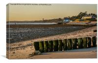 Lepe beach as the sun was starting to set, Canvas Print