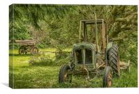 Abandoned Tractor, Canvas Print