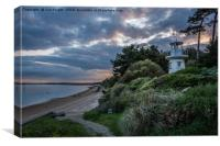 A moody view of the Millennium Lighthouse at Lepe , Canvas Print