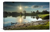 Sunrise at Beaulieu Mill Pond , Canvas Print