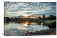 Early morning at Beaulieu Mill Pond, Canvas Print