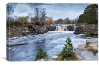 Autumn Colour, Low Force Waterfall Upper Teesdale, Canvas Print