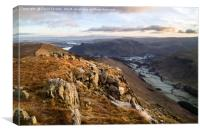 Striding Edge Early Morning Light, Canvas Print