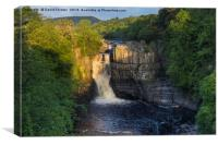 Summer Solstice Sun Illuminating High Force , Canvas Print