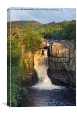 Summer Solstice Sun Illuminating High Force, Canvas Print