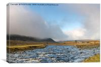 Upper Teesdale Light and Cloud, Canvas Print