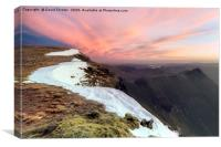 Striding Edge from Nethermost Pike at Dawn, Lake D, Canvas Print