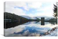 Reflections at The Derwent Dam, Canvas Print