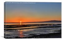 Solway estuary , Canvas Print