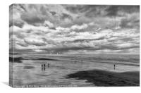Reflections on the sand, Canvas Print