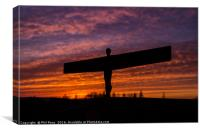 Sunset at the Angel, Canvas Print