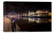 Reflections on the Tyne, Canvas Print