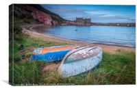 Boats at Cove harbour, Scottish Borders, Canvas Print