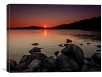 Sunset at Dovestone, Canvas Print