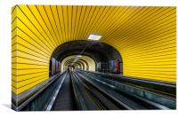 Travelator Ischgl, Canvas Print
