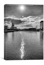 Sun Flare over The Quays, Canvas Print