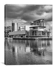 The Lowry Theatre B&W, Canvas Print