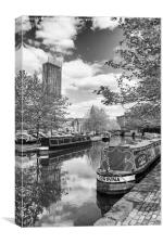 Castlefield Waterways of Manchester and Beetham To, Canvas Print