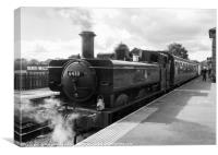 Steam train at North Weald Station, Canvas Print