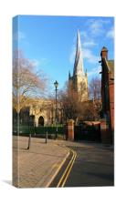 The Crooked Spire Chesterfield , Canvas Print