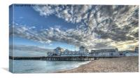 Southsea Pier at sunset, Canvas Print
