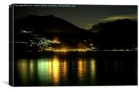Lights across the water, Canvas Print