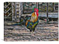 Bold Abstract Rooster, Canvas Print