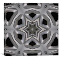 Wheel cover kaleidoscope, Canvas Print