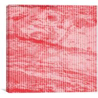 grunge red and white stripes texture, Canvas Print