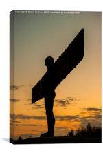 Angel of the North - Sunset, Canvas Print