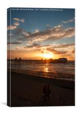 Sunset - North Pier Blackpool, Canvas Print