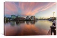 Quayside Sunset, Canvas Print