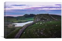 Hadrians Wall Sunset, Canvas Print