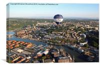 Balloon Over Bristol, Canvas Print