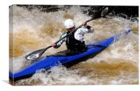 Canoeist on the River Treveryn, Canvas Print