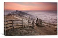 Mellow Mam Tor Sunrise, Canvas Print