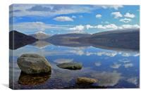 Winter reflections on Loch Fyne, Canvas Print
