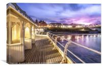 Cromer Pier Victorian Shelters, Canvas Print