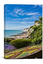 Eastbourne beach from the promenade., Canvas Print