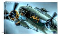B17 Flying Fortress Sally B close up art shot, Canvas Print