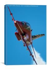 Red Arrows on the edge, Canvas Print