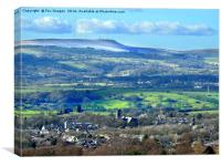 Winter hill lancashire, Canvas Print