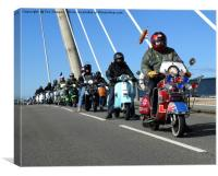 Scooter riders, Canvas Print