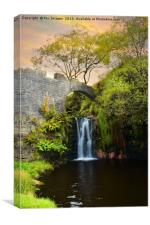 Summer waterfall, Canvas Print