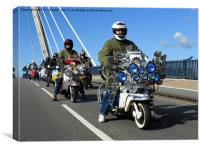 Southport Scooter Riders, Canvas Print
