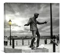 Billy fury statue liverpool, Canvas Print