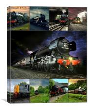 The flying scotsman & friends, Canvas Print