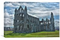 Whitby abbey yorkshire, Canvas Print