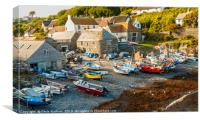 Cadgwith Cove | Fishing boats on the beach, Canvas Print