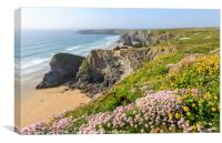 Bedruthan Steps | Cornwall , Canvas Print